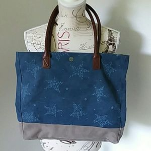 Life is Good canvas star tote NWOT